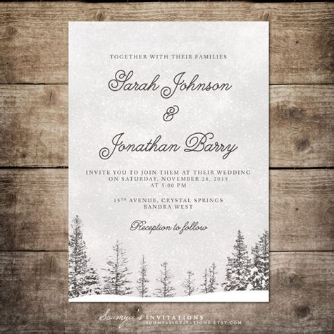 winter invitation template 15 winter wedding invitation templates free sle