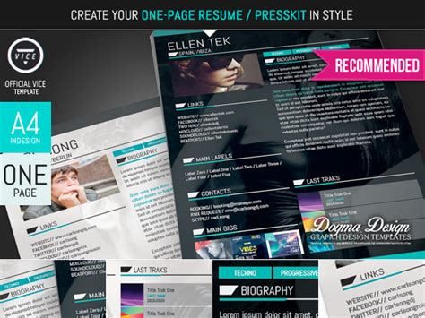 radio media kit template vice band dj and radio theme