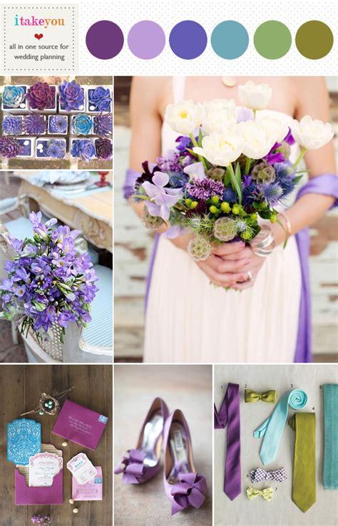 wedding colour schemes lilac green lilac wedding colors palette indigo teal purple