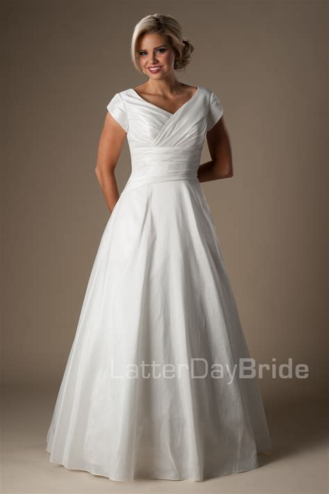 Discount Lds Wedding Dresses by Modest Wedding Gowns Dresses Discount Wedding Dresses