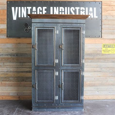 Vintage Storage Cabinet by Vintage Industrial Armoire Vintage Industrial Furniture