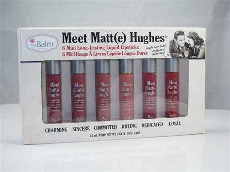 The Balm Meet Matte Hughes 6 Mini Liquid Lipstick Volume 3 The Balm Meet Matt E Hughes Mini Lasting Liquid