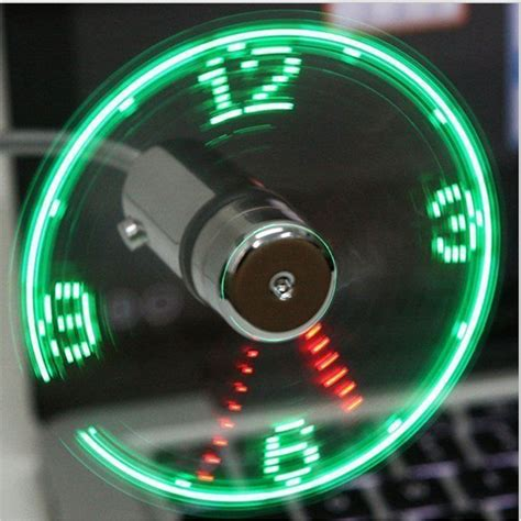 Usb Fan Led Clock Light usb mini time led clock fan with led light