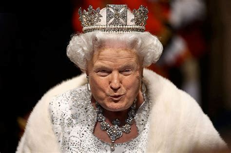queen elizabeth donald trump this woman is turning every queen photo into trump to make