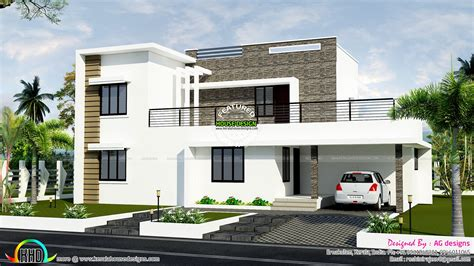 1800 square floor 4 bhk modern home design january 2016 kerala home design and floor plans