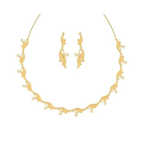 light weight set 22kt yellow gold light weight necklace set nl724020 by