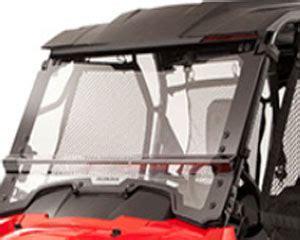 2014 honda pioneer 700 4 2 piece folding poly windscreen