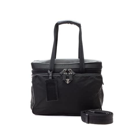 Vanity Bag by Prada Travel Vanity Bag Black Travel Bag Lxr Co