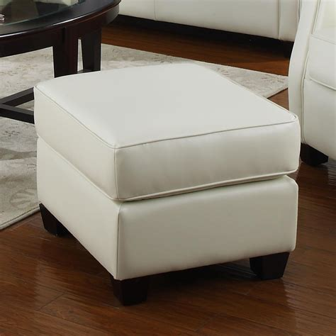 beige leather ottoman kristyna beige leather ottoman steal a sofa furniture