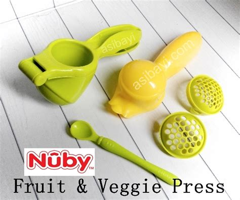 Nuby Garden Fresh Fruit Veggie Press Food Maker nuby fruit veggie press food processor mpasi dalam satu