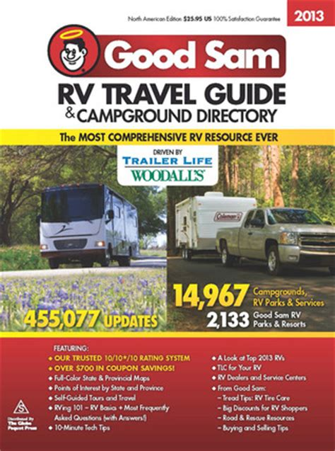 the sam rv travel savings guide sams rv travel guide cground directory books 2013 sam rv travel guide cground directory by
