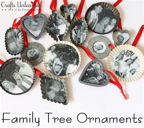 family tree handmade christmas ornaments