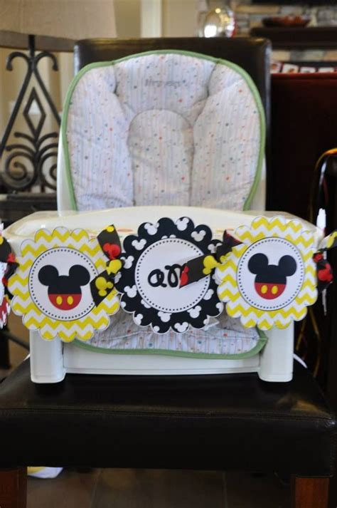 Mickey Mouse High Back Chair by Mickey Mouse Quot I Am One Quot High Chair Banner Birthday
