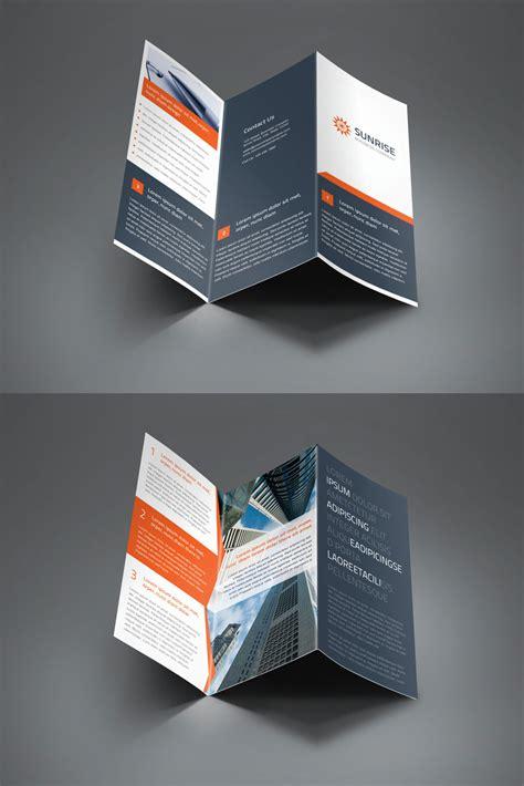 z fold brochure template corporate trifold and z fold brochure by saptarang