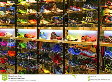 sports shoes stores adidas sports shoes store editorial stock photo image