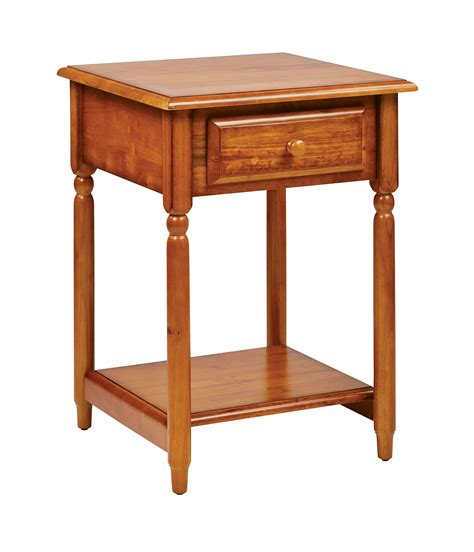 cherry wood accent tables knob hill transitional cherry wood storage accent table