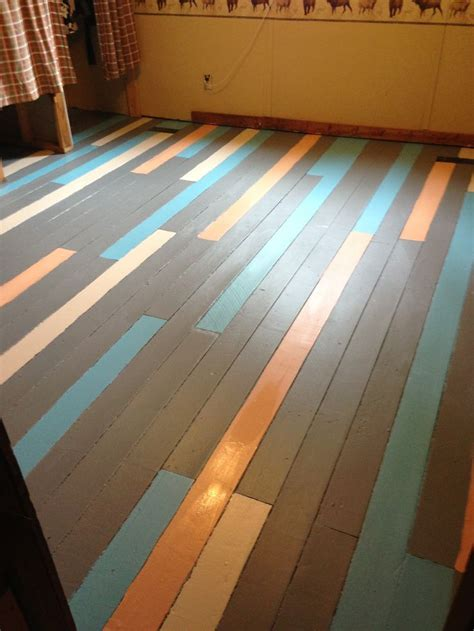 painted wood floors this is a idea different colors though for the rooms