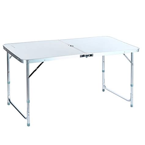 Folding Utility Table by 24 Ancheer 4ft Aluminum Portable Folding Utility