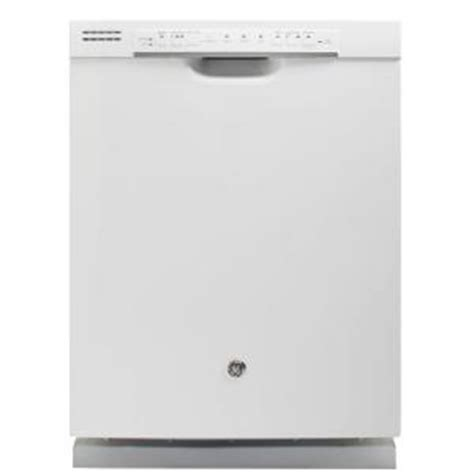 ge 24 in front dishwasher in white with steam