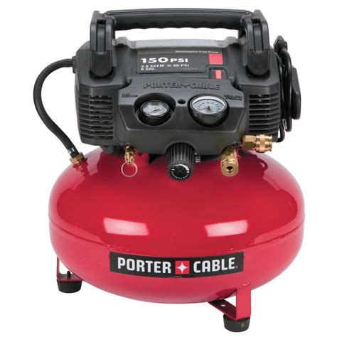 shop porter cable 6 gallon portable electric pancake air compressor at lowes