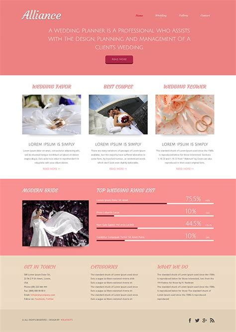 60 beautiful wedding website templates free premium