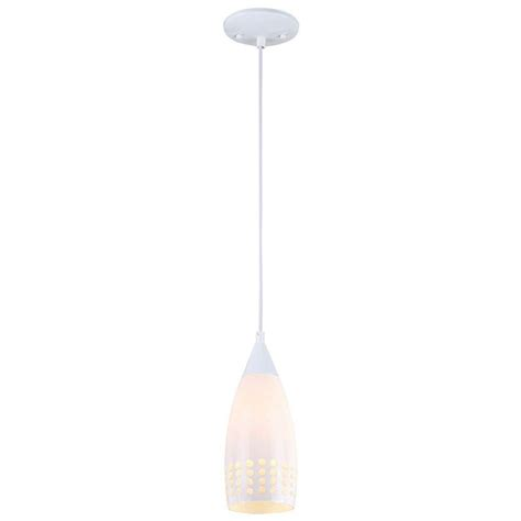 Blown Glass Mini Pendant Lights Westinghouse 1 Light White Adjustable Mini Pendant With Blown White Glass Shade 6101000
