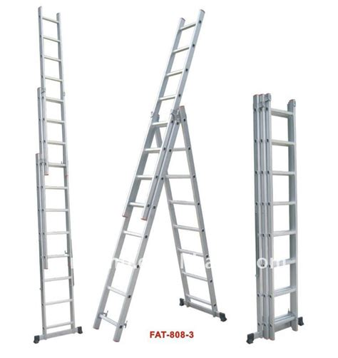 three section ladders aluminium ladder aluminum three section extension ladder