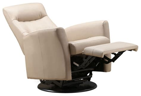 leather swivel rocker recliner chair rupert leather rocker and swivel recliner in khaki leather
