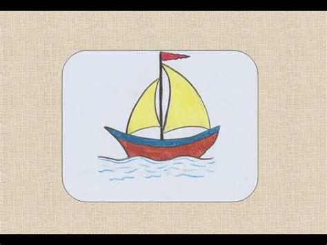 how to draw a boat youtube how to draw a boat for kids youtube