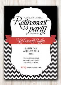retirement invitation black with a touch of or any