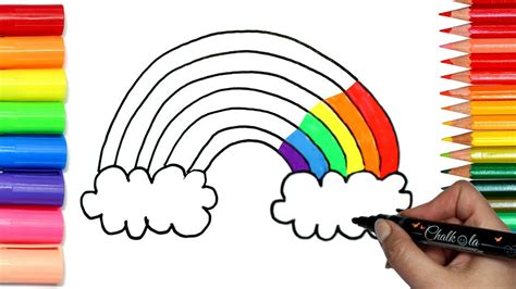 how to draw a rainbow coloring with chalkola chalk