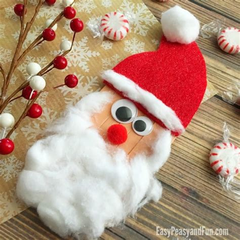 craft sticks santa craft christmas crafts for kids
