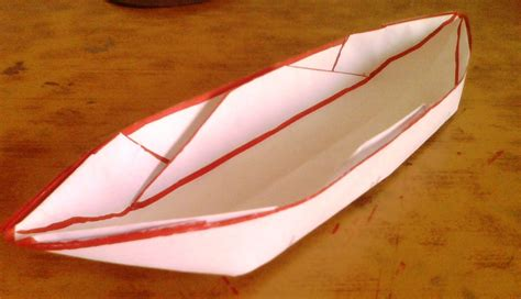 How To Make A Paper Float - make a paper boat that floats 11 steps