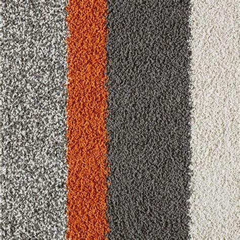 orange  gray lines carpet tile