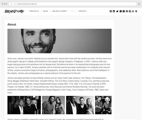 photography bio template the complete guide to writing your photographer about page