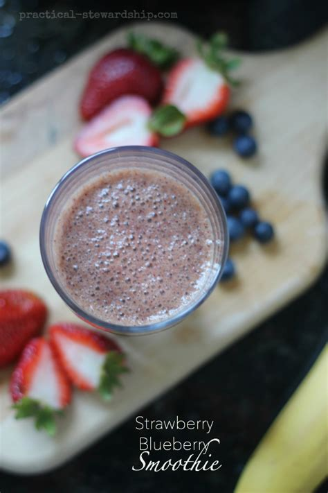 Strawberry Blueberry Detox Smoothie by 52 Different Whole Foods Smoothie Recipes Practical