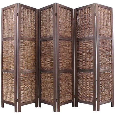 6 panel room divider shabby chic wicker room divider screen 6 panel brown room dividers uk