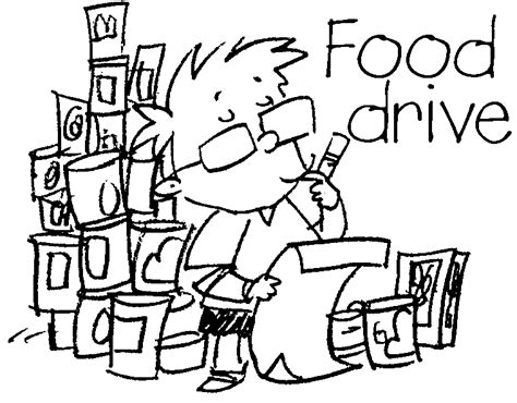 coloring pages food drive canned food clip art cliparts co