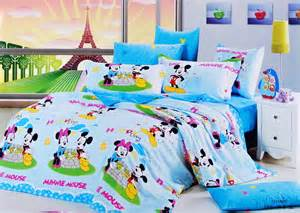 Mickey And Minnie Bed Set Blue Mickey And Minnie Mouse Bedding Sets Kids Bedding Sets