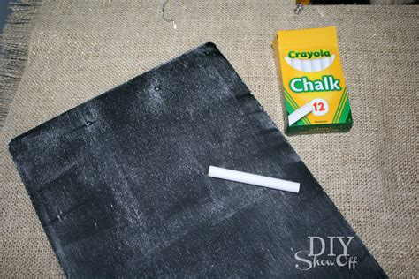 chalkboard paint seasoning burlap archives diy show diy decorating and home