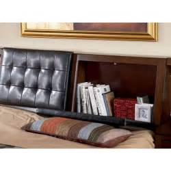 headboard with storage storage in headboard of langley storage bed by