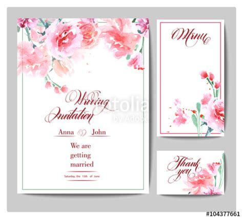 Wedding Invitation Card Description by Quot Wedding Invitation Cards With Watercolor Blooming