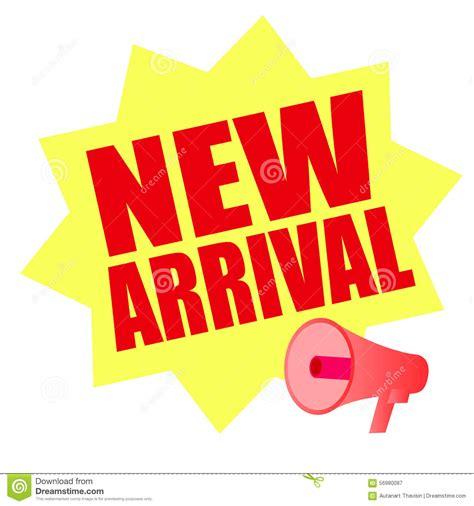 New Arriv new arrival yellow megaphone stock vector image 56980087