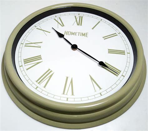 green kitchen clocks hometime wall clocks large 40cm retro pale green kitchen