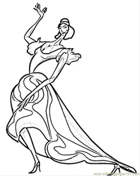 coloring pages passionate spanish flamenco countries
