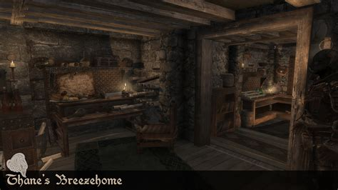 thane s breezehome skyrim home decoration mod top of