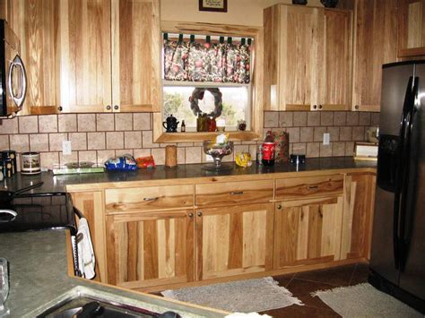 Hickory Kitchen Cabinet Rustic Hickory Kitchen Cabinets Home Design Ideas