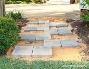 Home Depot Patio Pavers Creating A Paver Quot Zipper Quot Pathway With The Home Depot Digin