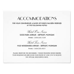 wedding accommodation card wedding accommodation card deco style 4 25 quot x 5 5