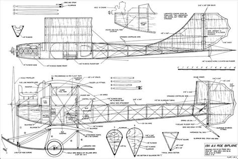 monoplanes and biplanes their design construction and operation the application of aerodynamic theory with a complete description and comparison of the notable types classic reprint books av roe 1911 biplane plans aerofred free model